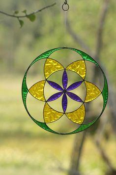 Semille de la vida atrapasol geometria sagrada por Mownart en Etsy