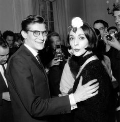 Yves Saint Laurent and Kouka, 1959.