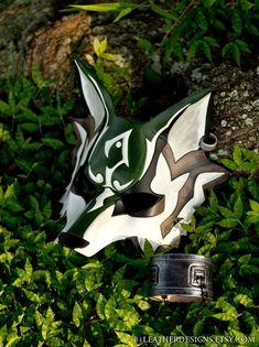 Twilight Princess: Link Wolf Leather Mask by senorwong Kitsune Maske, Anbu Mask, Link Cosplay, Wolf Mask, Wolf Costume, Mask Drawing, Japanese Mask, Cool Masks, Leather Mask
