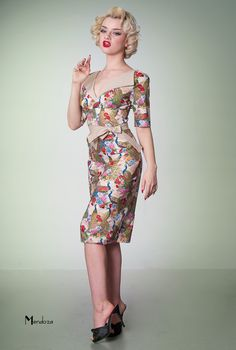 revere Pencil. Vintage style dress