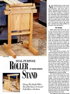 Roller Stand Plans - Table Saw Workshop Solutions