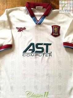 763094b3798 Official Reebok Aston Villa away football shirt from the 1996/1997 season.  Vintage Football