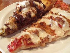 Pizza Crust: 1 cup warm (105F) water 2 cups flour 1−1/2 tablespoons vegetable oil 3/4 cup cake flour 1 teaspoon salt 1/4 teaspoon active dry yeast Fruit Filling: 1 − 21 oz. can pie filling (cherry,...