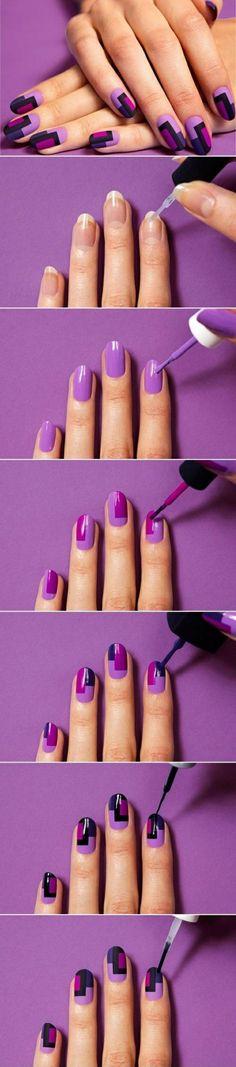 fingernägel bilder geometrisches muster erstellen schlichte nägel