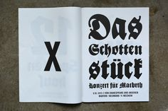 Volksbühne Berlin Season Magazine 2013/2014 - Fonts In Use