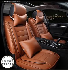 99.50$  Buy here - http://alig7r.worldwells.pw/go.php?t=32452639259 - opel Zafira Meriva Ampera Astra Agila Corsa car cover new luxury PU leather car seat cover  front&rear 5 seat Brown/Beige/Red