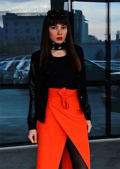 new ootd - wrap skirt and bomber jacket: https://jointyicroissanty.blogspot.com/2016/11/wrap-skirt.html