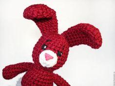 Вязаная крючком игрушка Вишнёвый заяц. Handmade. crochet toys