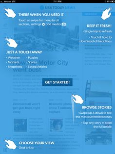 Getting Started Screen from USA Today › PatternTap