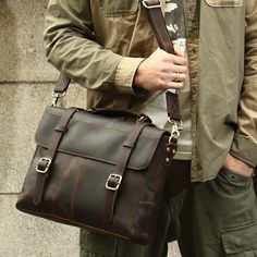 64a8883a1deb Leather Briefcases. Vintage Leather Messenger BagLeather Duffle BagLeather  Bags ...
