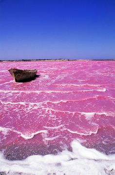 Pink Lake Australia | Pink Lake Retba of Senegal - looks like an alien planet- Pink color caused by algae