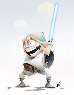 STAR WARS HEROES Character Art luke