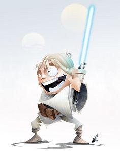 STAR WARS HEROES CharacterArt luke
