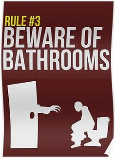 Zombie Survival Guide - Rule #3 - Beware of Bathrooms Posters