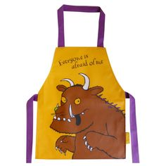 Beautifully designed and colourful apron to keep your little monster clean when you're doing all those fun crafting activities! Childrens Fancy Dress, Fancy Dress For Kids, Julia Donaldson Books, The Gruffalo, Godchild, Kids Apron, Book Week, Little Monsters, Little Ones