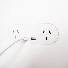 ZETR Trim-less Outlets & Switches. Double outlet with double USB finishing flush in plasterboard. Plasterboard, Outlets, It Is Finished, Kitchen Ideas, Usb, Wall Outlet