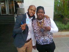 Siyabonga Sithole with #Heavy-K before the Metro FM Awards.