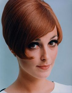 Sharon Tate in a Vidal Sassoon wig. 1966.