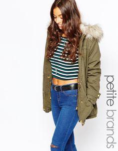 New+Look+Petite+Parka+Coat+with+Faux+Fur+Hood