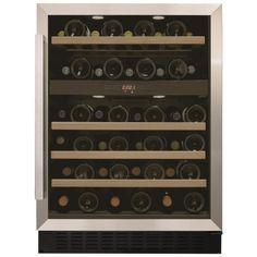 Cave à Vins Vitrée Airlux ARCAV54 de Service avec 2 Zones de Température. Chocodivins.com Wine Rack, Furniture Design, Shelves, Cabinet, Storage, Ranger, Champagne, Appliances, Kitchen