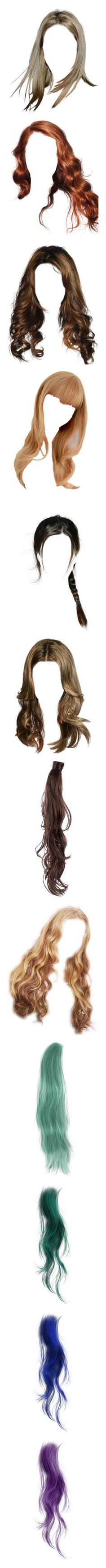 """""""Hair"""" by janjanzira-1 ❤ liked on Polyvore featuring beauty products, haircare, hair styling tools, hair, hairstyles, wigs, blonde, body parts, dolls and doll parts"""