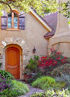 carmel cottage garden, nice door
