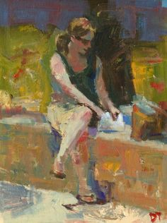ARTFINDER: Reaching for Lunch by Darren Thompson - Reaching for Lunch is part of a series of depicting the female figure. I use subdued colors and loose brush strokes, as in most of my paintings, in order to ...