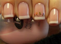 Simple Christmas French Mani. ♥ it! by Chloe's Nails