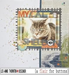 My Cat Sheldon - Simple Stories - So Rad Collection - 12 x 12 Double Sided Paper - Chillin'