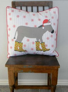 Christmas pillows by Laurie Wisbrun