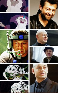 """The Last Unicorn"" live action fancast: Andy Serkis as Mabruk/The Skeleton (courtesy of theboyfallsfromthesky.tumblr.com)"