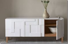Discover more of the best Pinch, Home, Design, Interior, and Furniture inspiration on Designspiration Sideboard Modern, Mid Century Modern Sideboard, White Sideboard, Sideboard Buffet, Sideboard Ideas, Console Modern, White Hutch, Modern Buffet, White Cabinet