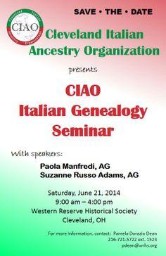 CIAO Italian Genealogy Seminar