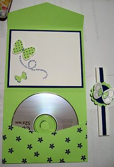 Maria's Stamping Station: Flight of the Butterfly CD Folio Scrapbooking, Mini Scrapbook Albums, Wedding Scrapbook, Scrapbook Cards, Cd Case Crafts, Cd Crafts, Paper Gifts, Diy Paper, Pochette Cd