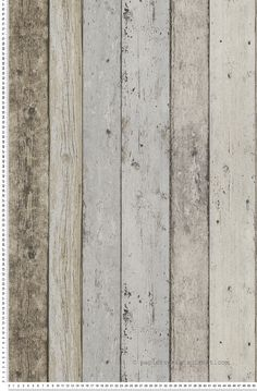 Planches marron gris bleu - Papier peint