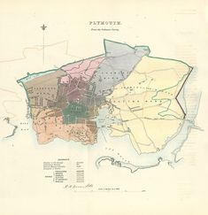 from the 'Report of the Boundary Commissioners…upon the boundaries and Wards of certain Boroughs and Corporate Towns. Map supplied with six pages of accompanying text. In stock at Frontispiece of