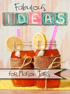 Fabulous Ideas for Mason Jars Uses For Mason Jars, Mason Jar Gifts, Mason Jar Diy, Diy Jars, Ball Canning Jars, Ball Jars, Jar Crafts, Diy And Crafts, Easter Crafts