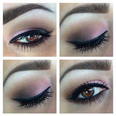 Pinky smokey eyes