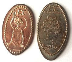 Elongated Pressed Penny Coin ET - Universal Studios Florida