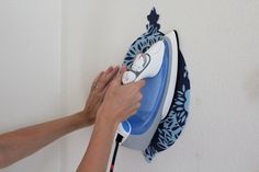 DIY fabric wall decals! Like this idea even better than contact paper! Endless options!