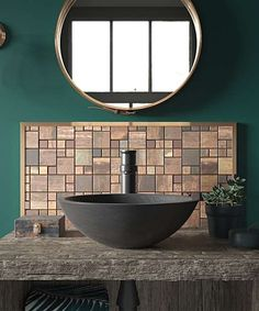 Create a style statement for your home with this dark hued mosaic, featuring an unusual and appealing blend of copper tones. Ideal for feature walls and splashbacks, these square mosaic tiles are great for bringing a burst of personality to a room. Copper Splashback Kitchen, Splashback Tiles, Mosaic Tiles, Topps Tiles, Downstairs Loo, Underfloor Heating, Wet Rooms, Real Style, Building A House