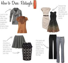 """""""How to Dress: Rectangle"""" by elisashely on Polyvore"""