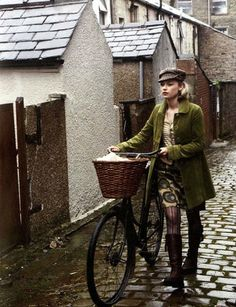 We love this old shot - White Stuff Autumn Winter 2008 #bike #cobbles | Shared from http://hikebike.net