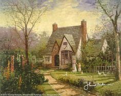 The Cottage - Canvas Classic by Thomas Kinkade
