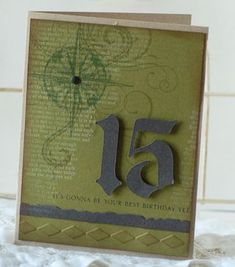 15th Birthday Card by Betsy Veldman for Papertrey Ink (June 2010)