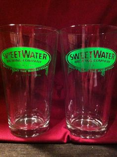 Sweet Water Green Bar Glasses Set of 2 Neon Green and Looking Mean   eBay