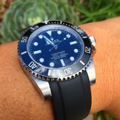 http://chicerman.com  lindenway:  Rolex sub C on @everestbands #rolex #rolexceramic #submariner #everestbands #watches #watchporn #watchuseek #wristshot #watchesoftheday #watchesofinstagram #calibre61 #horology  #menshoes