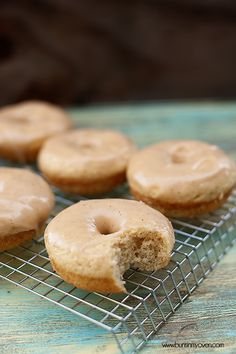 baked cinnamon donuts with brown butter glaze