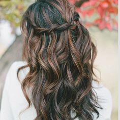 Brown braid crown