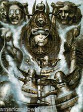 HR Giger Art Poster Print Illuminatus I Alien Baphomet Biomechanical Robot Chur, Arte Alien, Alien Art, Hr Giger Art, Giger Alien, Xenomorph, Baphomet, Land Art, Sci Fi Art